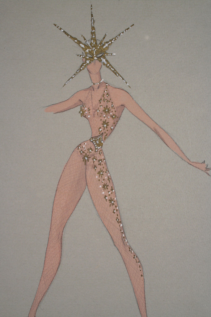<b>FRENCH FASHION ILLUSTRATION</b><br>FRENCH COSTUME DESIGN, CIRCA 1940s</br>