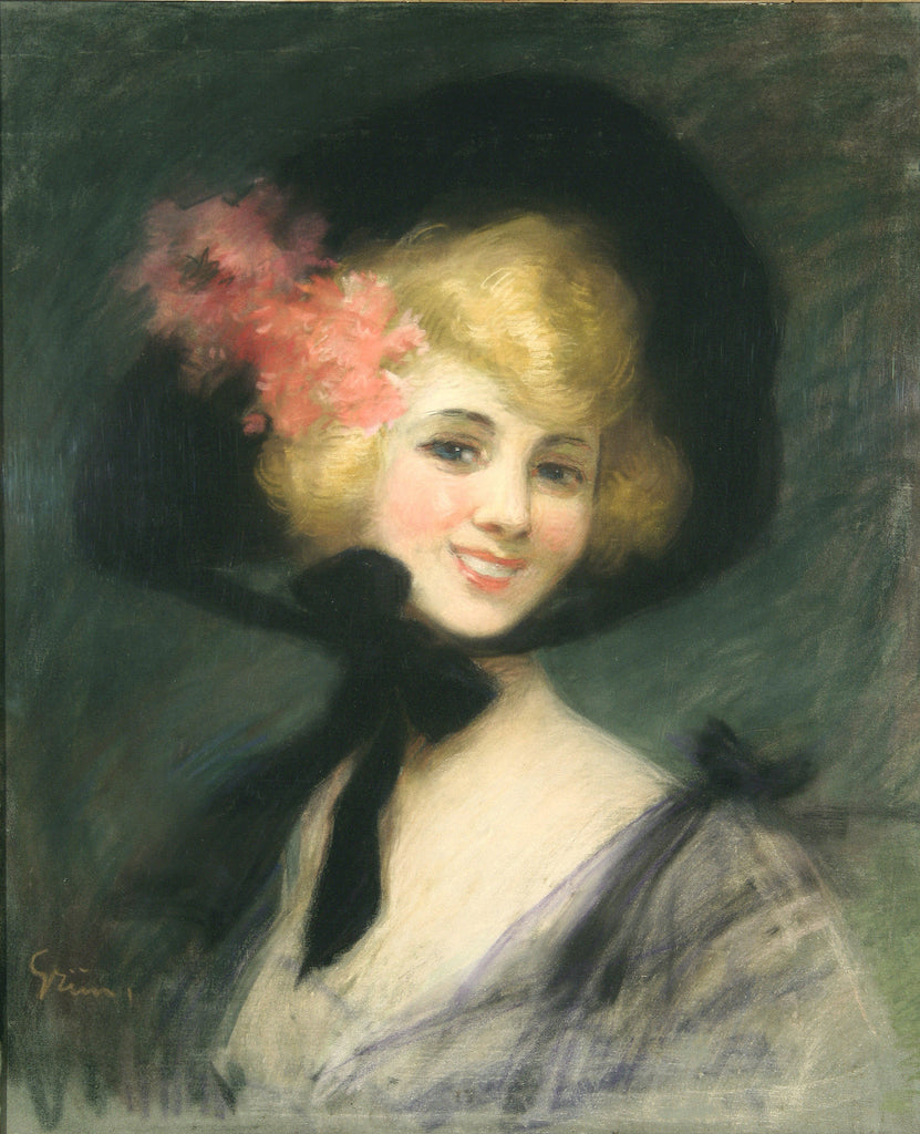 <b>JULES-ALEXANDRE GRUN</b><br> PORTRAIT OF WOMAN, CIRCA 1890</br>