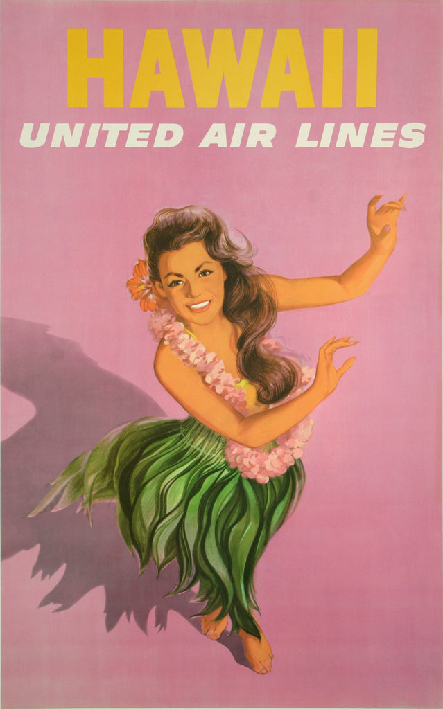 <b>AMERICAN POSTER</b><br>UNITED AIR LINES HAWAII, CIRCA 1960</br>