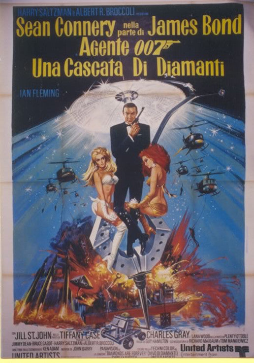 <b> ITALIAN POSTER</b><br> DIAMONDS ARE FOREVER, 1971</br>