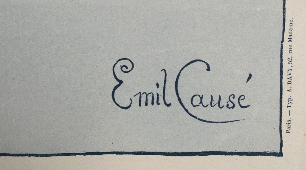 <b> EMIL CAUSE </b><br> SALON DES CENT, CIRCA 1898</br>