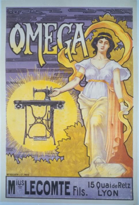 <b> FRENCH POSTER </b><br> OMEGA, CIRCA 1900</br>