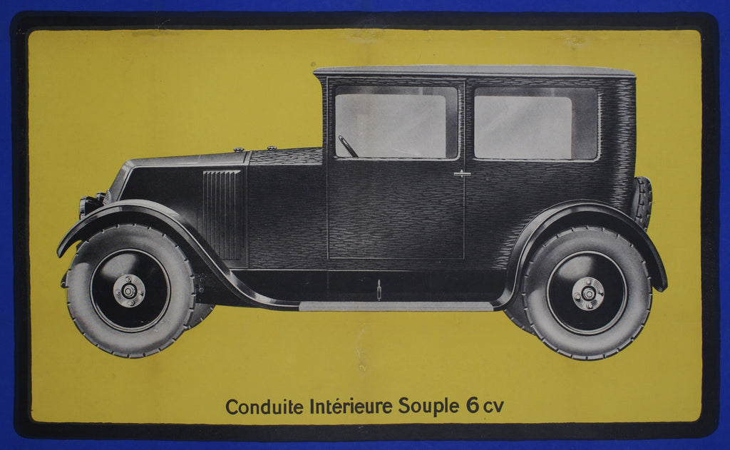 <b>FRENCH POSTER</b><br> RENAULT, CIRCA 1930s</br>
