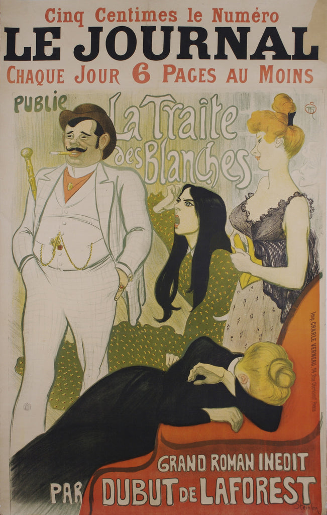 <b> THEOPHILE STEINLEN </b><br> LE JOURNAL, CIRCA 1890s </br>