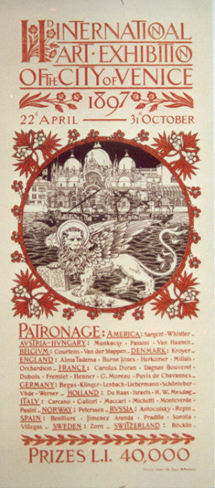 <b> ITALIAN POSTER</b><br> 2nd INTERNATIONAL ART EXHIBITION OF THE CITY OF VENICE, CIRCA 1897</br>