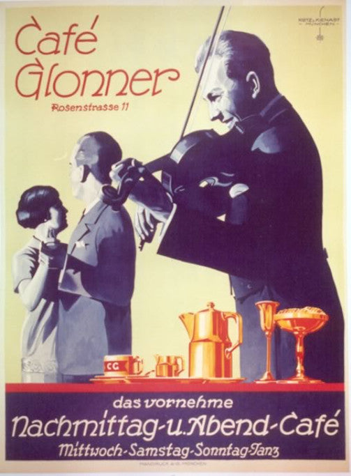 <b>KIENAST and KLOTZ</b><br> CAFE GLONNER, CIRCA 1933</br>