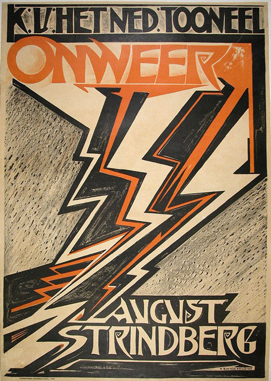 <b>H. TH. WIJDEVELD</b><br>ONWEER - AUGUST STRINDBERG, CIRCA 1918</br>
