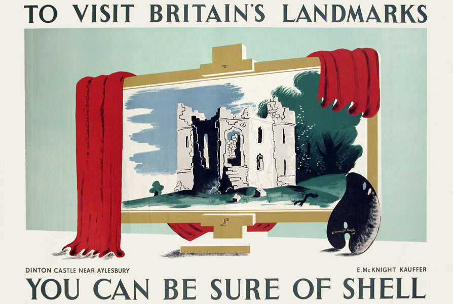 <b>E. MCKNIGHT KAUFFER</b><br> BRITAIN'S LANDMARKS - SHELL OIL, CIRCA 1936</br>