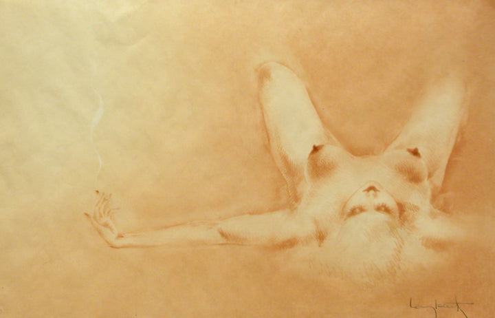 <b>LOUIS ICART</b><br>SMALL DARK AREOLA, CIRCA 1945</br>