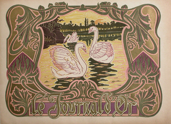 <b> FRENCH POSTER </b><br> LE JOURNAL D'OR, CIRCA 1900