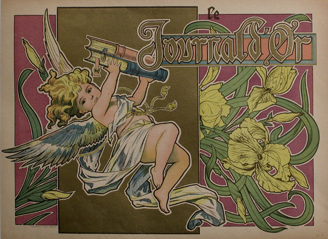 <b>FRENCH POSTER</b><br>LE JOURNAL D'OR, CIRCA 1900</br>