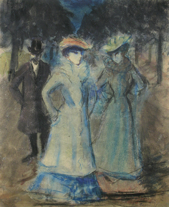 <b>MAURICE GUEROULT</b><br>TWO WOMEN & MAN WALKING, CIRCA 1900</br>