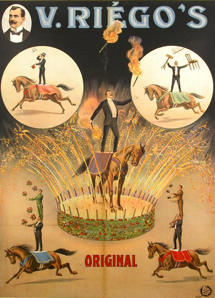 German Circus Poster V Riegos Early 1900s Colletti Gallery