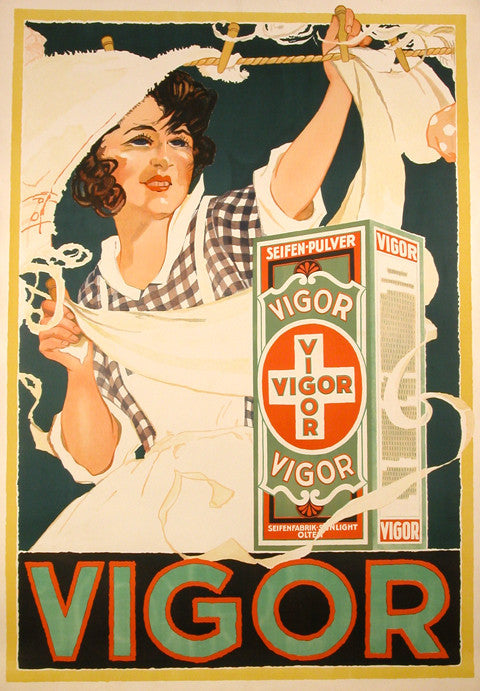 <b> GERMAN POSTER</b><br>VIGOR, CIRCA 1940s</br>