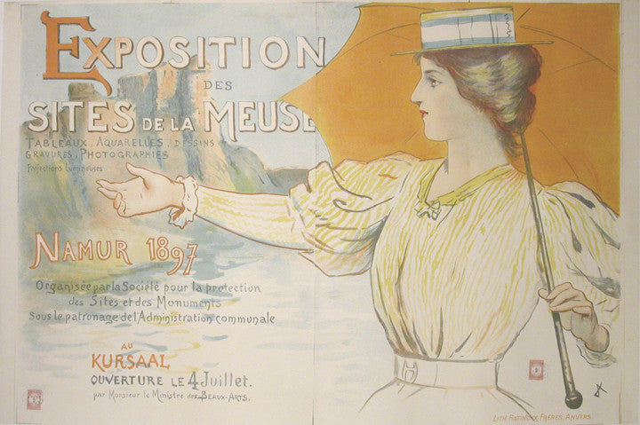 <b> FRENCH POSTER</b><EXPOSITION DES SITES DE LA MEUSE, CIRCA 1897</br>