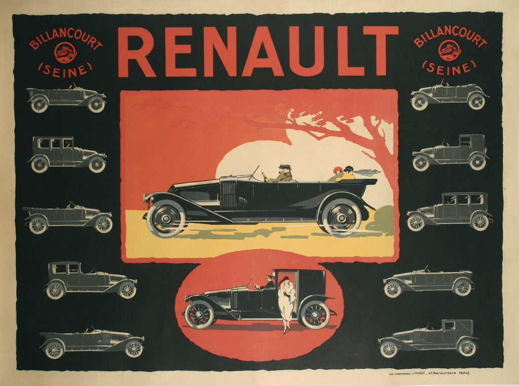 <b>FRENCH POSTER</b><br>RENAULT, CIRCA 1920s</br>