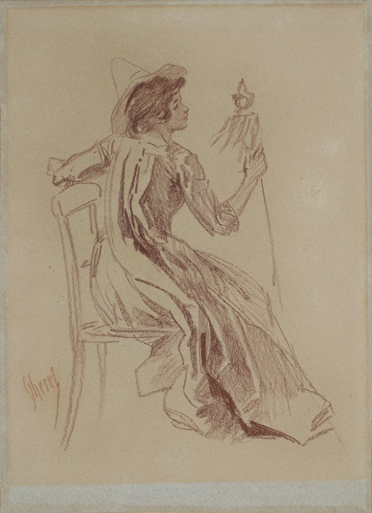 <b>JULES CHERET</b><br> SEATED LADY, CIRCA 1890s</br>