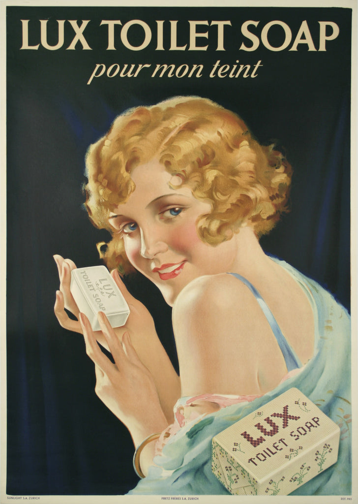 <b>SWISS POSTER</b><br>LUX TOILET SOAP, CIRCA 1930</br>