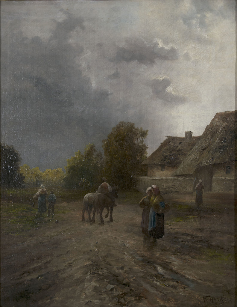 <b>F. HANKE</b><br>OUTSIDE THE VILLAGE, CIRCA 1900</br>