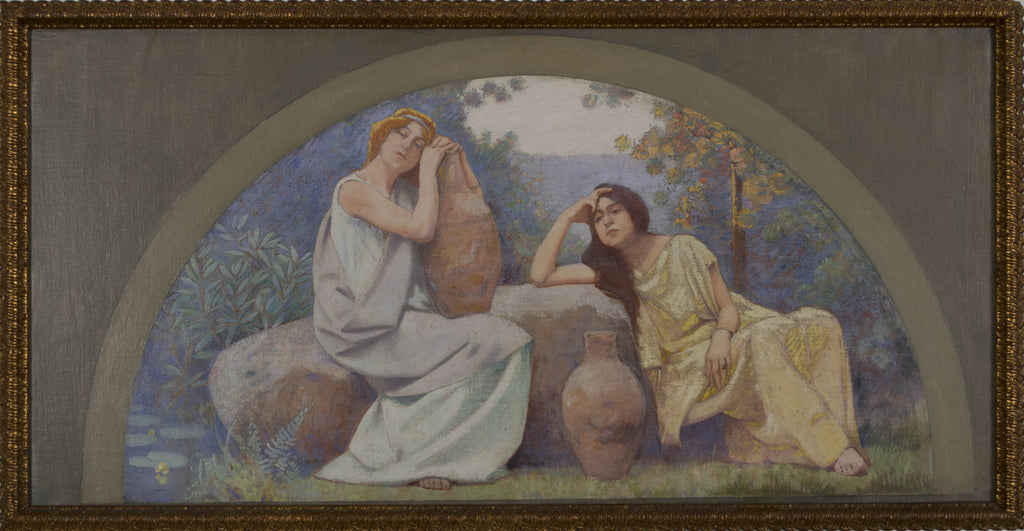 <b>CHARLES SPRAGUE PEARCE</b><br>ALLEGORIES: REST, CIRCA 1896</BR> SET OF FOUR OIL PAINTINGS