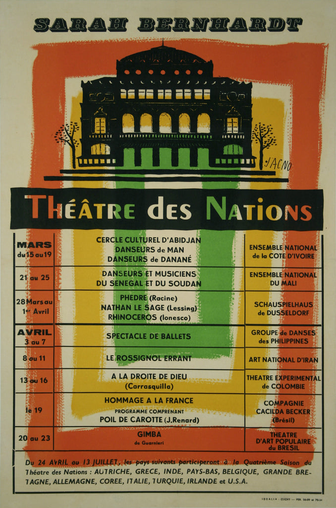 <b>JACNO</b><br> THEATRE DES NATIONS, CIRCA 1960</br>