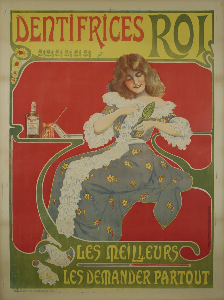 <b> FRENCH POSTER</b><br> DENTIFRICES ROI, CIRCA 1900</br>