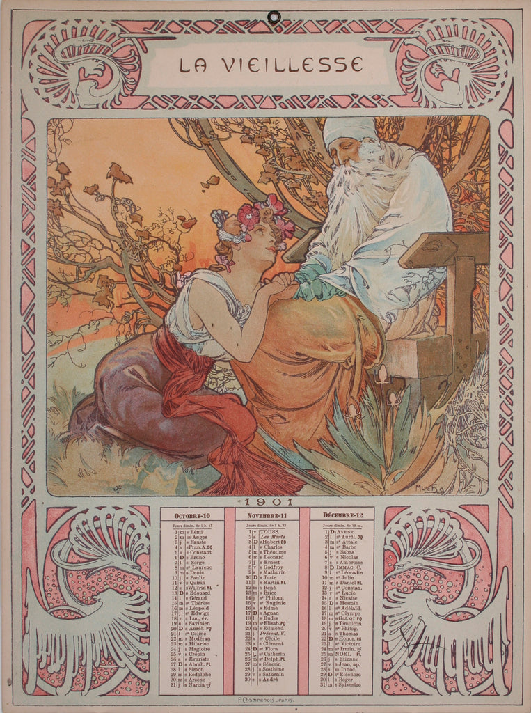 <b>ALPHONSE MUCHA</b><br>L'ADOLESCENCE (SET OF FOUR), CIRCA 1901</br>