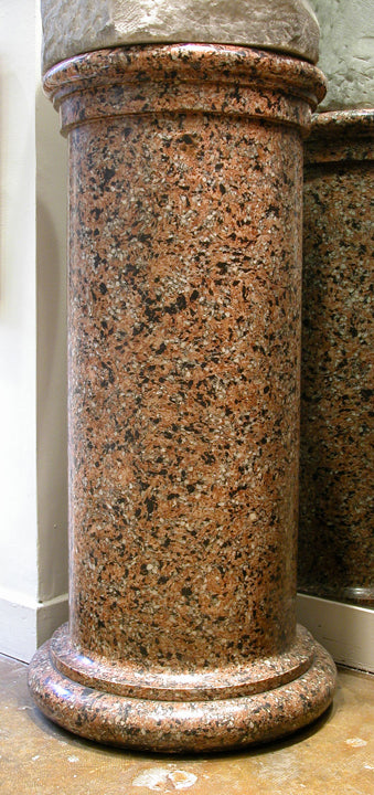 <b>CRUSHED GRANITE PEDESTAL</b><br>CIRCA 20TH CENTURY</br>
