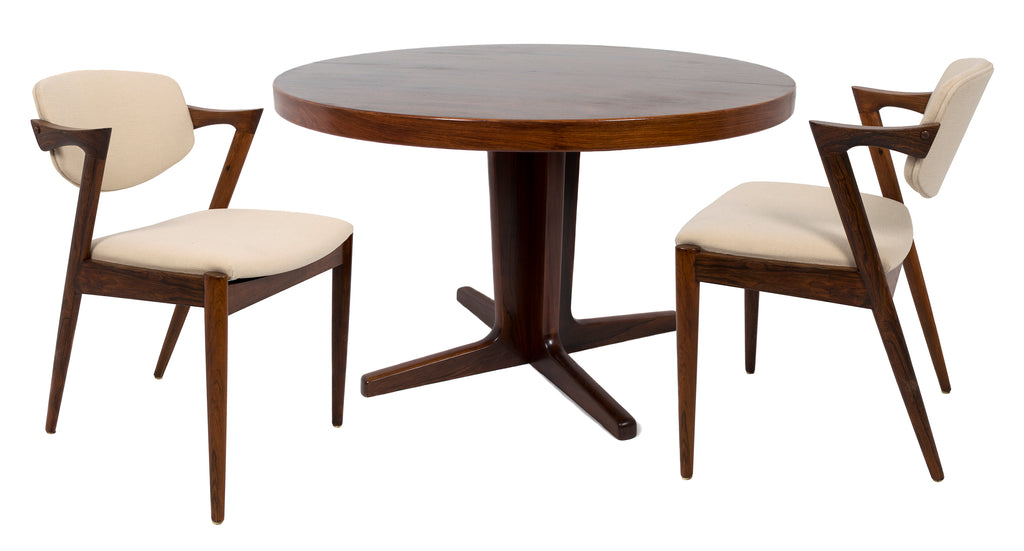 <b>KAI KRISTIANSEN</b><br> DINING TABLE AND SIX CHAIRS - MODEL 42,CIRCA 1950</br>