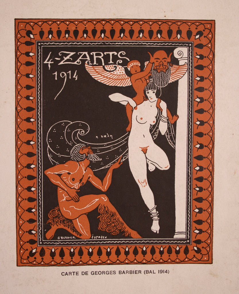 <b>GEORGES BARBIER</b><br>4 Z'ARTS DECO PERIOD LITHOGRAPH, CIRCA 1914</br>