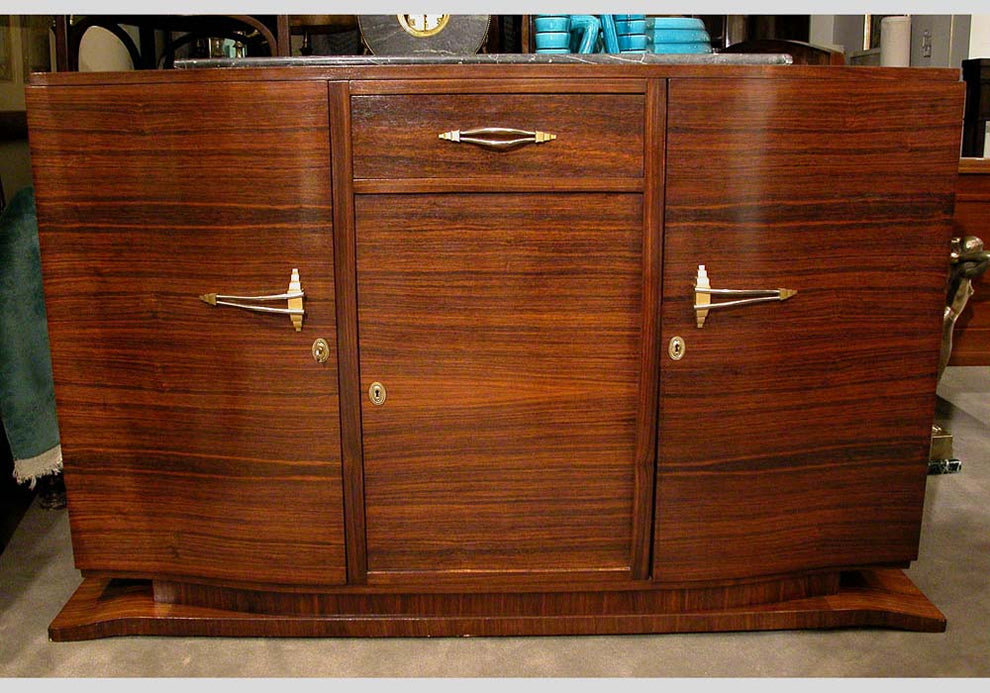 <b>ART DECO ROSEWOOD BUFFET WITH DETACHABLE MIRROR</b><br>CIRCA 1930</br>
