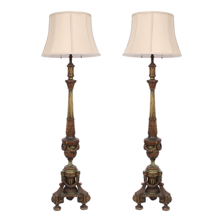 <b>PAIR OF FRENCH EMPIRE STYLE LAMPS</b><br> EARLY 20TH CENTURY</br>
