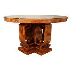 <B>GIOVANNI GUERRINI</B><BR>BURL WALNUT DINING TABLE, CIRCA 1925</BR>