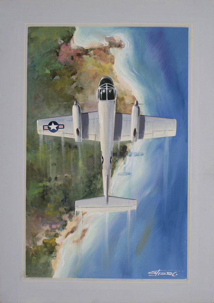 <b>AMLETO FIORE</b><br> JET PLANE WATER COLOR, CIRCA 1950</br>SET OF THREE