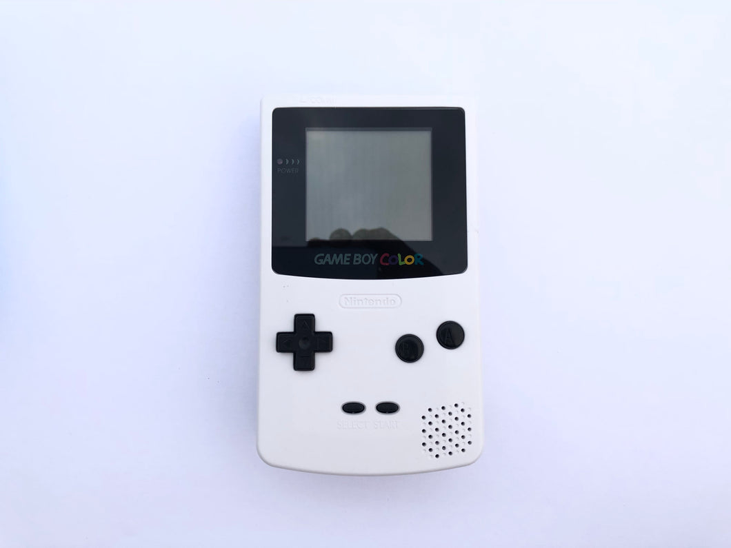 GameBoy Color (Front-Light Mod) / Classic White