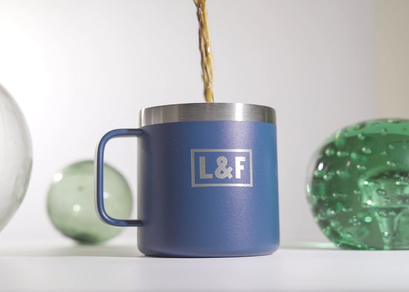 "L&F ""Lazy Sunday"" 14oz. Stainless Steel Mug"