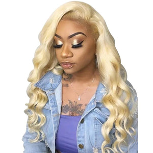 Preplucked Lace Wigs Human Hair Half Blonde
