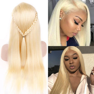 Blonde Lace Front Wig Brazilian Straight 13x4 Lace Front Human Hair Wigs