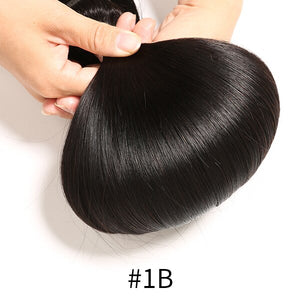 Human Hair Closure With Baby Hair