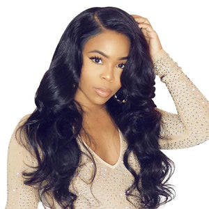 Lace Front Wigs Body Wave Brazilian Remy Hair Bleached Human Hair Wig