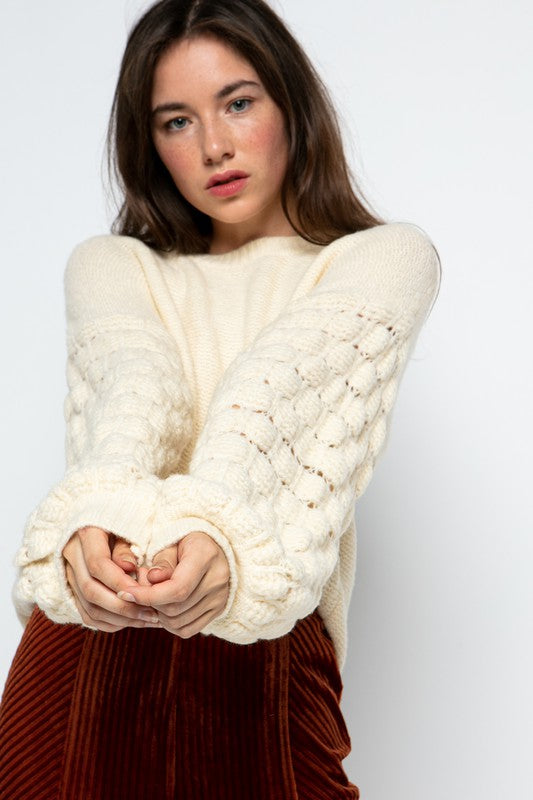 Ivory Quilt Sweater
