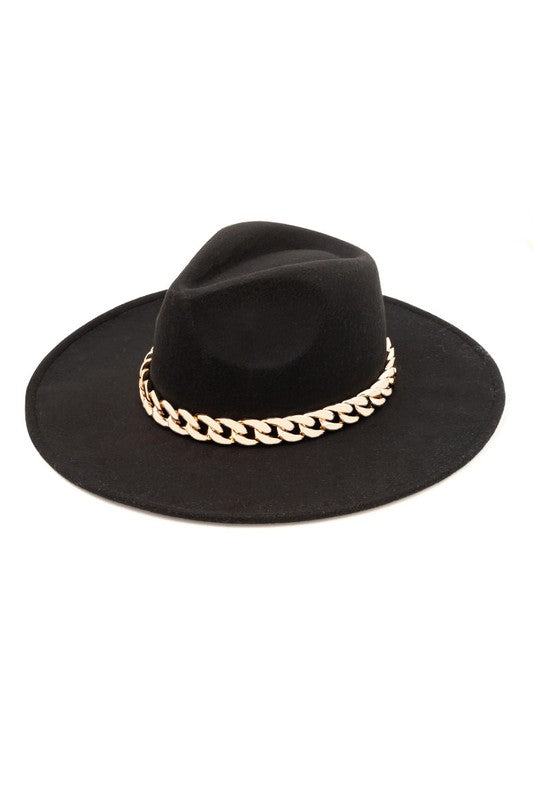 Black Chain Hat