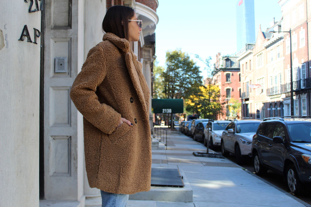 Mocha Teddy Coat