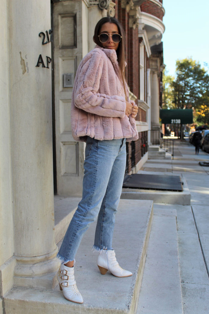 Blush Faux Mink