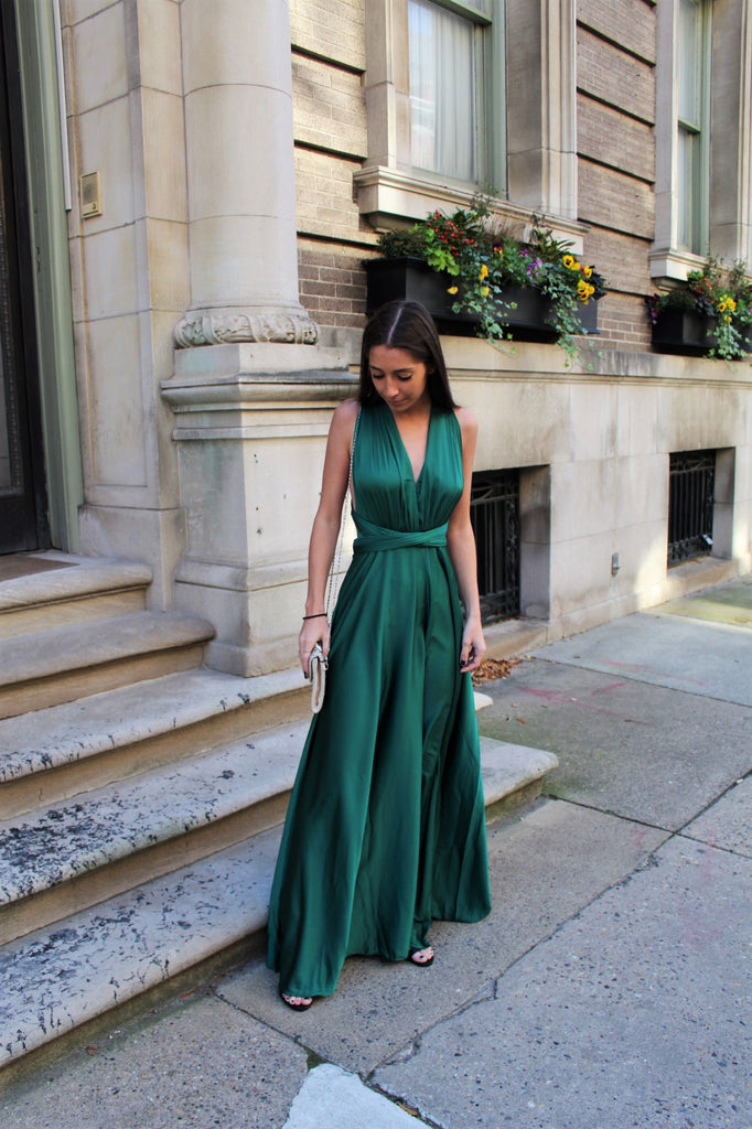Jaded Wrap Maxi Dress