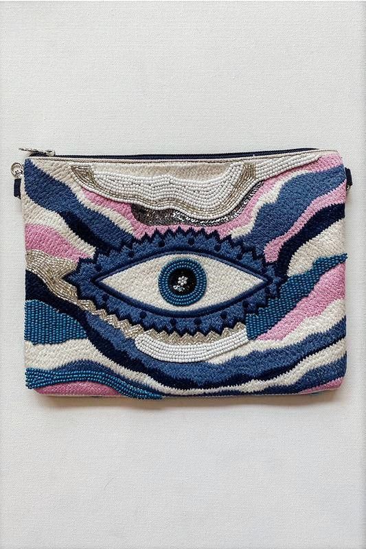 True Blue Evil Eye Bag
