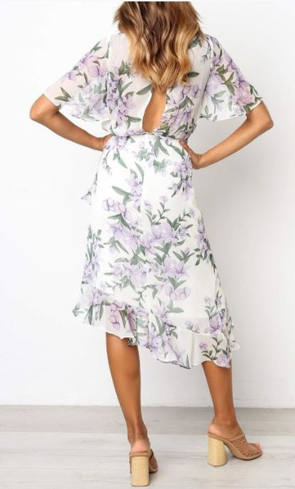 Whimsical Floral Midi Dress