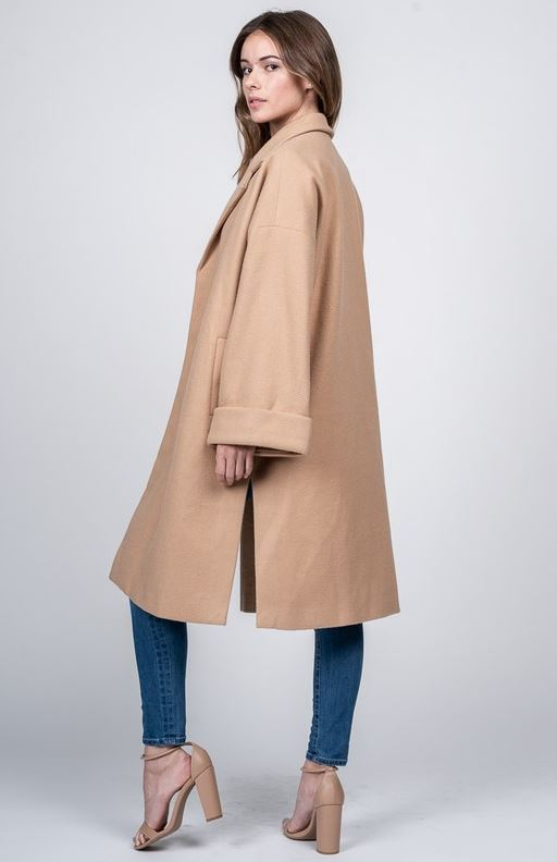 Oversized Camel Trench
