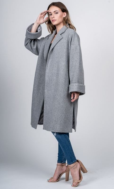 Oversized Grey Trench