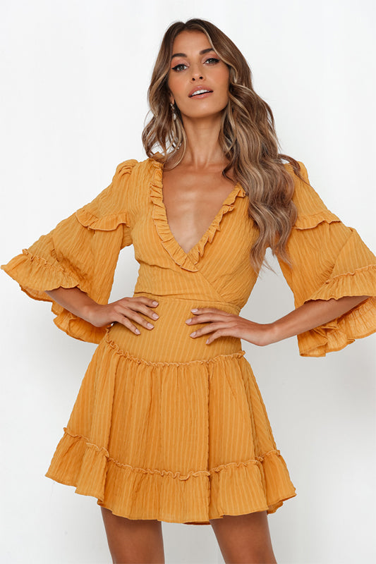 Lace Up Mustard